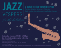 HOLIDAY JAZZ VESPERS -- A Collaborative Worship Service