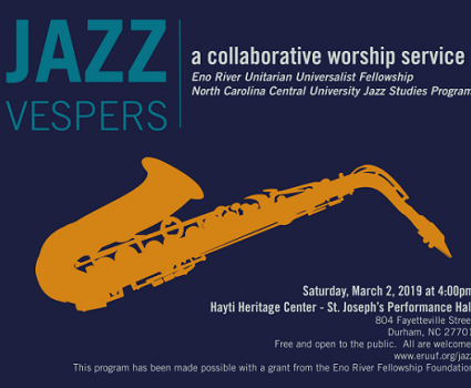 Jazz Vespers at Hayti Heritage Center